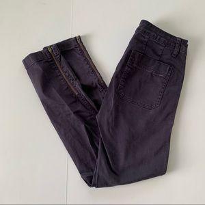J.Crew Navy Skinny Stretch Cargo Pant with Zippers
